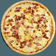 Tradicionais: Bacon Especial - Pizza Média (Ingredientes: Azeitona, Bacon, Catupiry, Champignon, Mussarela, Orégano, Palmito)