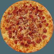 Tradicionais: Baiana - Pizza Média (Ingredientes: Azeitona, Calabresa, Calabresa Moída, Mussarela, Orégano, Pimenta)