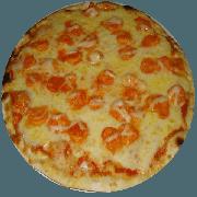 Tradicionais: Camarão - Pizza Média (Ingredientes: Azeitona, Camarão, Mussarela, Orégano)