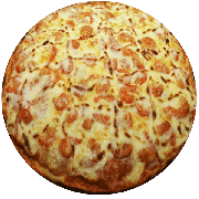 Tradicionais: Camarão com Catupiry - Pizza Média (Ingredientes: Azeitona, Catupiry, Mussarela, Orégano)
