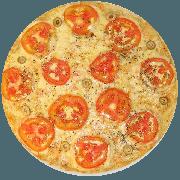 Tradicionais: Do Chefe - Pizza Média (Ingredientes: Azeitona, Lombo, Mussarela, Orégano, Parmesão, Tomate)
