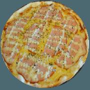 Tradicionais: Italiana - Pizza Média (Ingredientes: Azeitona, Catupiry, Orégano, Peito de Peru, Provolone)