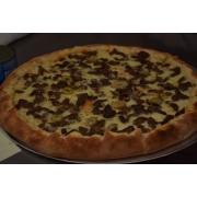 Especiais: 32-Picanha - Pizza Broto (Ingredientes: Molho de Tomate, Mussarela, Orégano, Tomate Seco, Rúcula, Picanha, Azeitona Verde, Alho Frito)