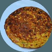 Omelete: Frango (Campeão de Satisfação) - Omelete (Ingredientes: 2 ovos, Cebolinha, Frango, Queijo coalho, Tomate)