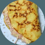 Crepioca: Peito de Peru e Queijo Coalho - Crepioca (Ingredientes: Peito de peru, Queijo coalho)