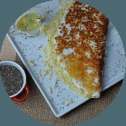 Tapioca: Queijo Minas - Tapioca (Ingredientes: Queijo minas)