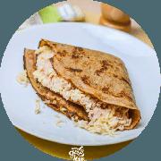 Crepe: Crepe Misto de Peito de Peru (Mais Pedido) - Crepe (Ingredientes: Peito de Peru, Queijo Coalho)