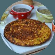 Omelete: Atum - Omelete (Ingredientes: 2 ovos, Atum, Cebolinha, Queijo coalho, Tomate)