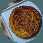 Omelete: Queijo Minas - Omelete (Ingredientes: 2 ovos, Cebolinha, Queijo minas, Tomate)