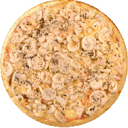 Tradicionais: Light - Pizza Média (Ingredientes: Alcaparras, Azeitona, Champignon, Orégano, Palmito, Ricota)