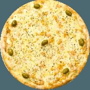 Tradicionais: Milho - Pizza Média (Ingredientes: Azeitona, Milho, Mussarela, Orégano)