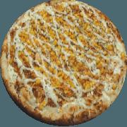 Tradicionais: Milho Verde - Pizza Média (Ingredientes: Azeitona, Bacon, Catupiry, Milho Verde, Mussarela, Orégano)