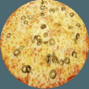Tradicionais: Mussarela - Pizza Média (Ingredientes: Azeitona, Mussarela, Orégano)
