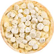 Tradicionais: Palmito - Pizza Média (Ingredientes: Azeitona, Mussarela, Orégano, Palmito)