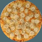 Tradicionais: Peruana - Pizza Média (Ingredientes: Atum, Azeitona, Cebola, Ervilha, Mussarela, Orégano, Palmito)