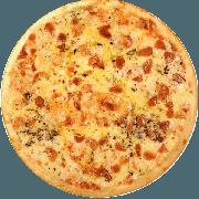 Tradicionais: Pomodoro - Pizza Média (Ingredientes: Alho Crocante, Azeitona, Mussarela, Orégano, Parmesão)