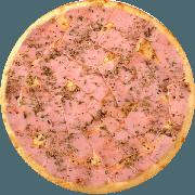 Tradicionais: Presunto - Pizza Média (Ingredientes: Azeitona, Mussarela, Orégano, Presunto)