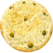 Tradicionais: Quatro Queijos - Pizza Média (Ingredientes: Azeitona, Catupiry, Mussarela, Orégano, Parmesão, Provolone)
