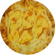 Tradicionais: Seis Queijos - Pizza Média (Ingredientes: Azeitona, Catupiry, Cheddar, Gorgonzola, Mussarela, Orégano, Parmesão, Provolone)