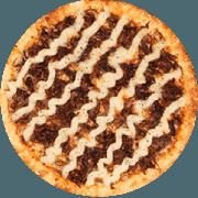 Tradicionais: Sertaneja - Pizza Média (Ingredientes: Azeitona, Carne de Sol Desfiada, Catupiry, Mussarela, Orégano)