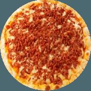 Tradicionais: Toscana - Pizza Média (Ingredientes: Azeitona, Calabresa Moída, Catupiry, Ervilha, Frango, Mussarela, Orégano)