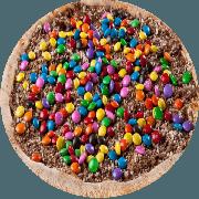 Doces: Confeitada - Pizza Grande (Ingredientes: Chocolate, Confete Colorido, Mussarela)