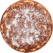 Doces: Prestígio - Pizza Grande (Ingredientes: Chocolate, Coco Ralado, Leite Condesado, Mussarela)