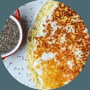 Tapioca: Crocante (Mais Pedida) - Tapioca (Ingredientes: Queijo coalho)