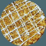 Tradicionais: Los Pollos (Campeã de Satisfação) - Pizza Grande (Ingredientes: Frango Desfiado, Massa integral enriquecida com fibras (Chia, Gergelim e Linhaça), Molho de tomate caseiro sem conservantes, Orégano, Queijo mussarela light, Requeijão Light)