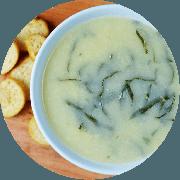 Sopa: Creme Verde Vegano. 500ml - Sopa (Ingredientes: Creme de batata inglesa com couve manteiga, Temperos)
