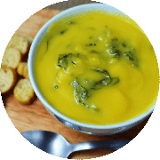 Sopa: Sopa de Abóbora. 500ml - Sopa (Ingredientes: Abobora, Couve Manteiga)