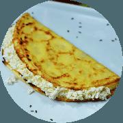 Crepioca: Queijo - Crepioca (Ingredientes: Opção de ricota, Queijo coalho, Queijo Minas ou Mussarela)