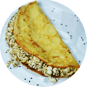 Crepioca: Ricota com Espinafre - Crepioca (Ingredientes: Espinafre, Ricota)