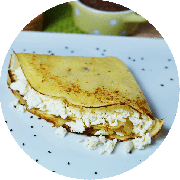 Crepe: Crepe Queijo Minas - Crepe (Ingredientes: Queijo minas)