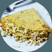 Crepe: Crepe de Ricota c/ Espinafre - Crepe (Ingredientes: Ricota com espinafre)