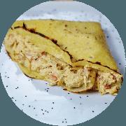 Crepe: Crepe Frango Cremoso (Campeã de Satisfação) - Crepe (Ingredientes: Creme especial de ricota, Frango desfiado, Tomate)