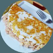 Tapioca: Peito de Peru e Queijo - Tapioca (Ingredientes: Peito de peru, Queijo coalho)