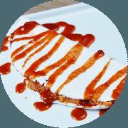 Tapioca: Romeu e Julieta - Tapioca (Ingredientes: Goiabada, Queijo)