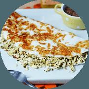 Tapioca: Ricota com espinafre - Tapioca (Ingredientes: Espinafre, Queijo coalho por fora tostado, Ricota)