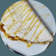 Tapioca: Tapioca Cartola - Tapioca (Ingredientes: Canela, Deliciosa opção de banana, Mel)