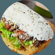 Sanduíche: Carne de Sol (Campeão de Satisfação) - Sanduíche (Ingredientes: Alface, Carne de Sol, Queijo coalho, Tomate)