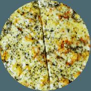 Tradicionais: Formaggio - Pizza Grande (Ingredientes: Massa integral enriquecida com fibras (Chia, Gergelim e Linhaça), Molho de tomate caseiro sem conservantes, Orégano, Queijo mussarela light)