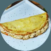 Crepioca: Frango Cremoso (Campeã de Satisfação) - Crepioca (Ingredientes: Creme especial de ricota, Frango desfiado, Tomate)