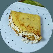 Crepe: Crepe crocante - Crepe (Ingredientes: Queijo Coalho)