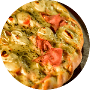 Especiais: Presunto Especiale - Pizza Grande (Ingredientes: Cebola, Cream Cheese, Molho de Tomate Cuko