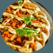 Novidade: Salmão (RECEITA NOVA) - Pizza Média (Ingredientes: Alcaparras, Alho Frito, Cream Cheese, Molho de Tomate Cuko