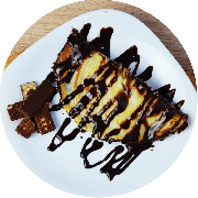 Sobremesas: Mini Crepe de Chocolate - Sabor chocolate