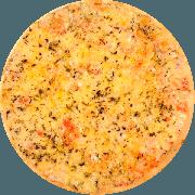 Tradicionais: Mussarela - Pizza Média (Ingredientes: Massa tradicional crocante, Molho Pomodori de tomate Pellati, Queijo Mussarela, E Orégano)