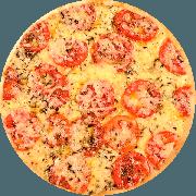 Tradicionais: Napolitana - Pizza Média (Ingredientes: Massa tradicional crocante, Molho Pomodori de tomate Pellati, Queijo Mussarela, Tomate, Queijo Parmesão, Manjericão)