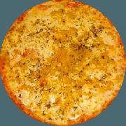 Tradicionais: Alho e Óleo - Pizza Média (Ingredientes: Massa tradicional crocante, Molho Pomodori de tomate Pellati, Queijo Mussarela, Alho Frito, Azeitona, E Orégano)